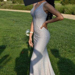 XS Silver prom dress
